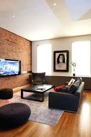 fake brick wall living room image by interiors design inc faux brick wall living room