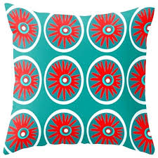 red outdoor cushions canada modern pillow and turquoise contemporary home design
