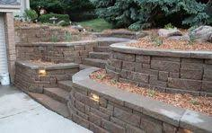 Small Picture pavestone retaining wall steps Highland Stone Combo