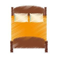 double bed top view. Exellent Top Double Bed Topview Icon Image Vector Illustration Design Stock Vector   76169605 Throughout Double Bed Top View