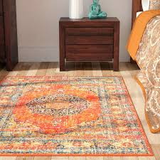 contemporary orange area rug with regard to reviews remodel 1 pleasant gray blue orange area rug