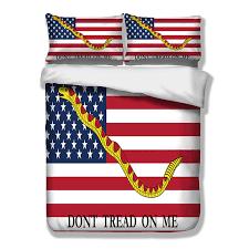 wongsbedding america flag duvet cover don t tread on me bedding set usa uk