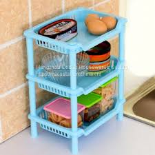 square shaped plastic small storage shelves 3 layers desk stand rack bathroom shelves for house storage