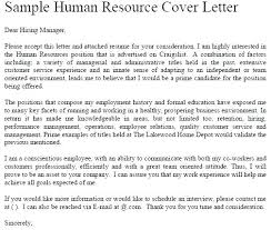 Hr Cover Letter Examples Delectable Hr Cover Letter Examples Good Sample Resume Format