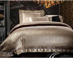 satin king comforter sets luxury jacquard silk cotton bedding set