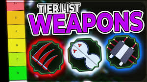WEAPON TIER LIST | RANKING EVERY WEAPON/NINJA TOOL