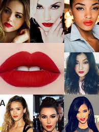 red lips makeup style