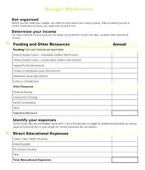 Expense Worksheet Template Budget Worksheet Template Example College