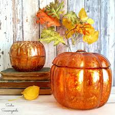 upcycled alcohol ink glass pumpkins