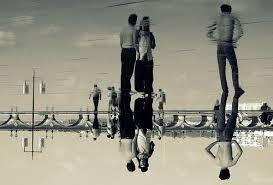mirror reflection photography. sea mirror reflection photography