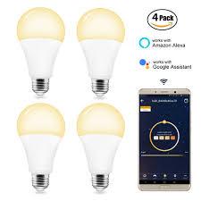 Speaker Light Bulb Alexa Bb Speaker Led Bulbs Wifi Smart Bulb Led Bulb E27 220v Dimmable Smart Lamp Alexa Color Led App Remote Control Warm White Light