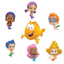 >bubble guppies set of 8 removable wall stickers 6 inch bubble  bubble guppies set of 8 removable wall stickers 6 quot inch bubble guppies