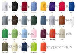Details About Gildan Adult 50 50 Cotton Blend Long Sleeve T Shirt Mens Size S 3xl Tee G8400