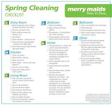 cleaning checklists spring cleaning checklist merry maids