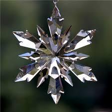 100mm diy cognac snowflake hanging glass pendants crystal suncatcher prism chandelier parts ornament party decor