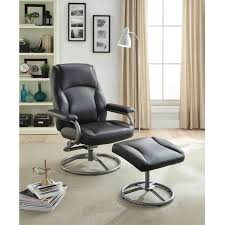 recliner and ottoman footrest set leather glider chair swivel rocker office seat