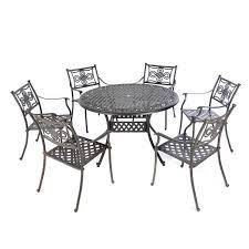 metal garden table and 6 chairs off 55