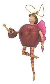 Christbaumschmuck Figur Obstelfe Apfel Elfe Anhänger