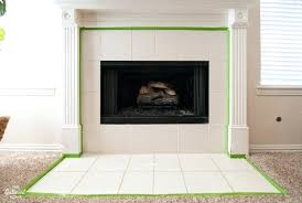 how to tile a fireplace surround painted tile fireplace surround carefully tape the edges of the how to tile a fireplace surround