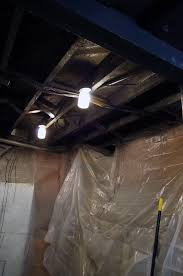 basement ceilings painted black a