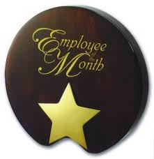Employee Of The Month Award Employee Of The Month Award Mahogany With Gold Star From