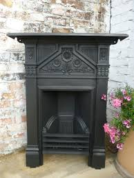 reclaimed victorian style cast iron fireplace surround antique edwardian fireplace with sunflower motifs