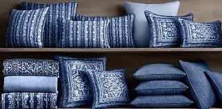 Perennials Corsica Outdoor Pillows Royal Blue