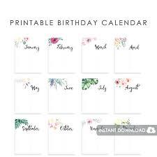 Birthday Guest Book Template Free Printable Birthday Calendar Template Ideas For Ipad