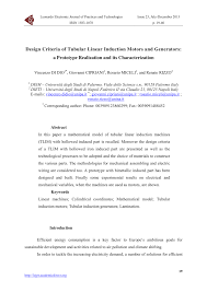 pdf design criteria of tubular linear induction motors and generators a prototype realization and its characterization