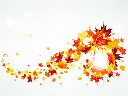 Flying Autumn Leaves Backgrounds For Powerpoint Nature Ppt Templates
