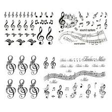 music notes in words music notes letters words temporary tattoo sticker