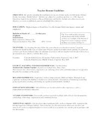 Teacher Resume Objective Mesmerizing Teaching Resume Objective Statement Examples Teacher Samples Career
