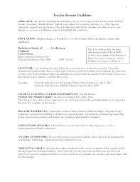 Teacher Resume Objective Mesmerizing Teaching Resume Objective Statement Examples Teacher Samples Career
