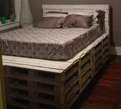 king size bed frame out of pallets diy queen size pallet bed frame i on homemade