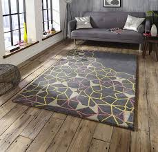 sp37 grey yellow pink rugs