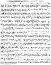 Vita e opere di Michelangelo Buonarroti – Docu.Plus