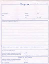 Sample Bidding Proposal Free Print Contractor Construction Bid