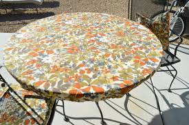 accessories overwhelming round white orange gray vinyl elastic table covers round outdoor table top metal outdoor