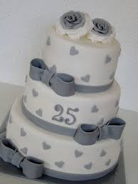 Silver Wedding Anniversary Cake Cakes Wedding Anniversary Cakes