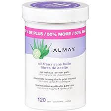 moisturizing eye makeup almay eye makeup remover pads oil free 120 count