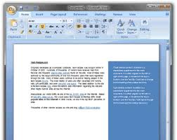 Example Word Documents Word Adding Sidebar Content To A Document