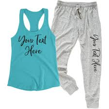 Create Your Own Pants Create Your Own Tank Top Jogger Pants Set Personalized Brides