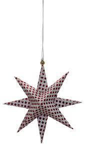 Casalanas Christbaumschmuck Rot Gepunkteter Stern 95x95 Cm Rot Weiß Art Nr 3344