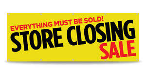 Store Closing Sale Banner Sign Going Out Of Business Vinyl Free