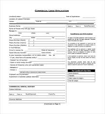12 Commercial Lease Form Templates To Download | Sample Templates