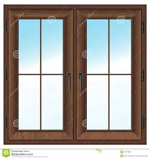 closed window clipart. wooden closed double window. vector illustration. textured window isolated on white. clipart o