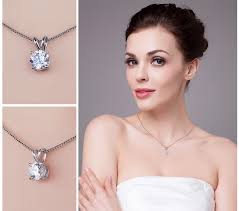 2019 <b>JewelryPalace Classic Round 1ct</b> Solitaire Pendant Genuine ...
