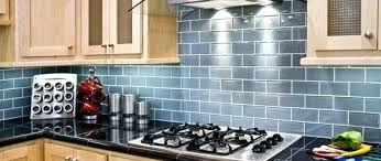 blue tile backsplash kitchen ocean subway tile kitchen white