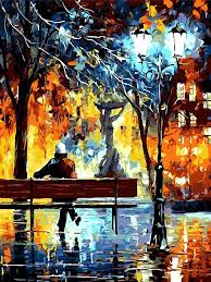 frameless colorful street night view diy oil painting by numbers canvas wall art