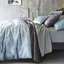 washed cotton er velvet quilt shams west elm